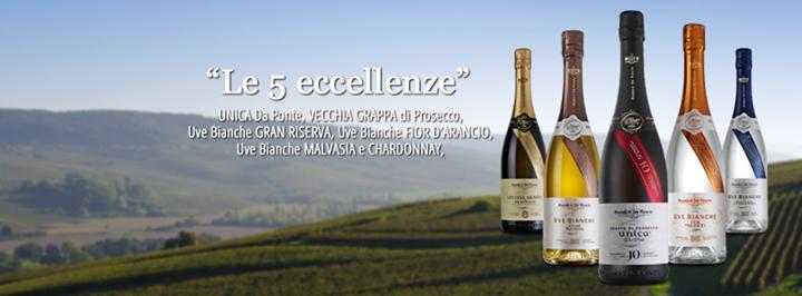 Les 5 excellences de la Distillerie Andrea Da Ponte - Des grappas d'exception � la port�e de tous.